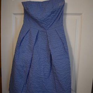 J. Crew powder blue strapless dress